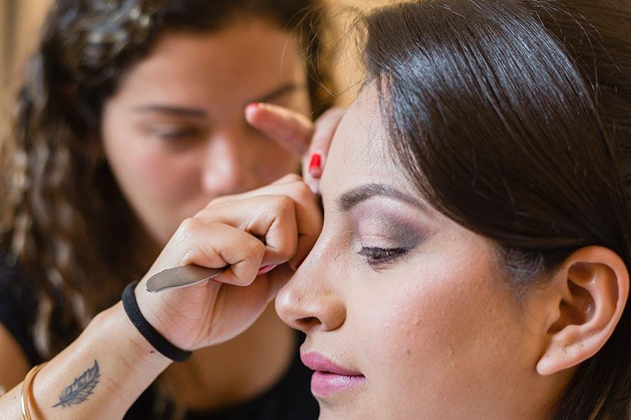 mascara en las pestañas maquillaje para ojos